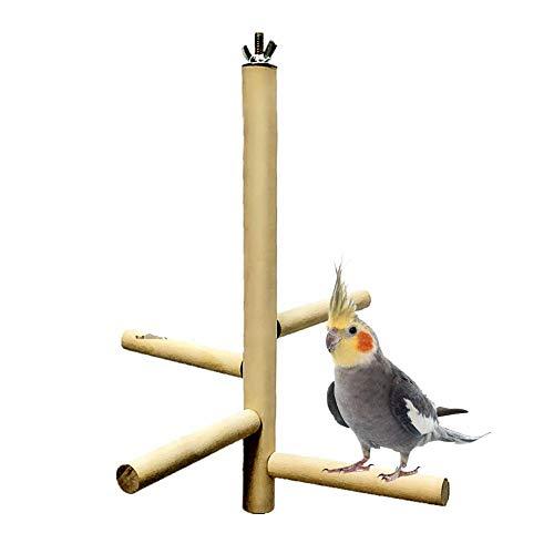 Parrot Toys Station Stand Level 4 Round In Legno Scale In Piedi Scale Arrampicata Giocattolo Per Giocattoli Pappagallo, Giocattoli Per Uccelli, Giocattoli Pappagallini, Giocattoli Pappagallo