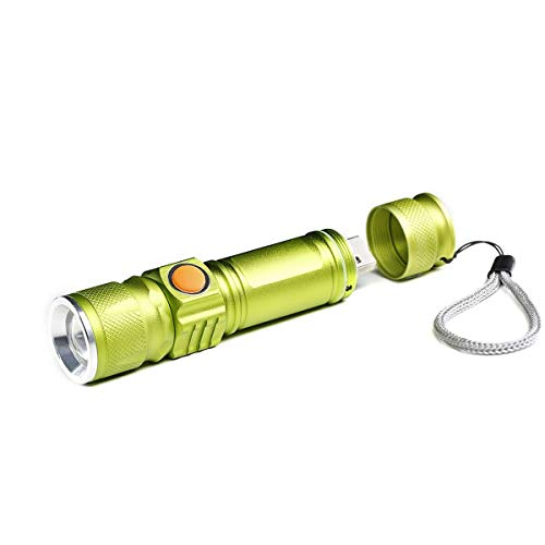 Mini USB recargable LED Antorcha 3 modos Niveles intensidad
