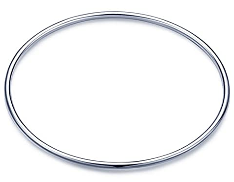 Unendlich U Einfach 925 Sterling Silber Mädchen Armreif Cuff Armband Stapelbar Armschmuck, Silber Poliert