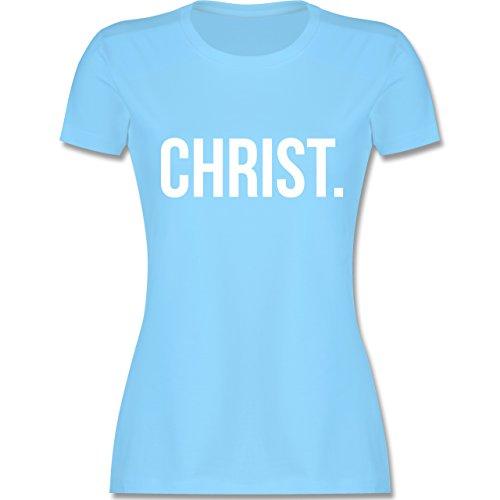 Statement Glaube Religion - Jesus Christ weiss - Damen T-Shirt Hellblau