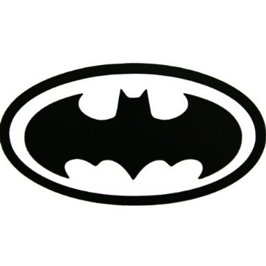 Aufkleber Batman Bat Sign Signal decal - 152mm BLACK DECAL - Vinyl Car Truck Decal Sticker (Batman-laptop-aufkleber)