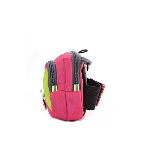 Wewod Sports Fascia da braccio/corsa fitness Fascia da braccio/Mini borsa a tracolla per iPhone 6(4,7)/6S adatto per movimento, ginnastica, Jogging, Ciclismo, Escursionismo, Uomo Donna Bambini, Rosa Rosa