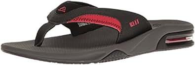 Reef  Fanning, Sandales Plateforme homme - noir - Gris/noir/rouge,