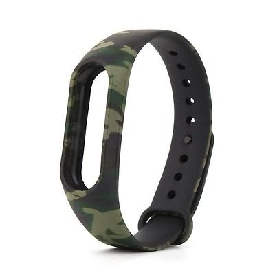 J Printing Replacement Strap Accessories Bands Wrist Strap for Xiaomi MI Band 2 & Mi Band HRX Smart Activity Tracker Army Camouflage…