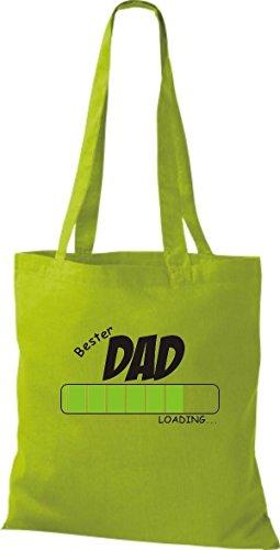 Borsa In Tessuto Stile Cotone Borsa In Cotone Best Dad Caricamento Colore Kiwi Rosa