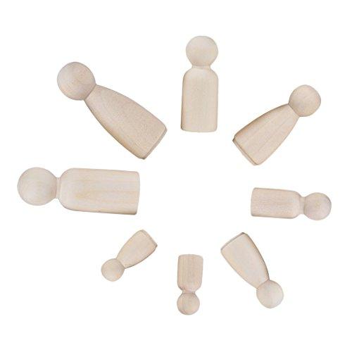 ännchen Weiblichen Familie Holzfiguren Spielfiguren Puppen Krippenfiguren zum Bemalen Basteln ()