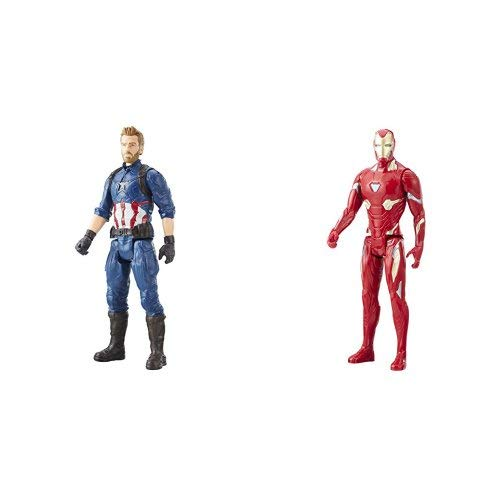 Marvel Infinity War Titan Hero Series - Captain America & Iron Man (with Titan Hero Power FX Port)