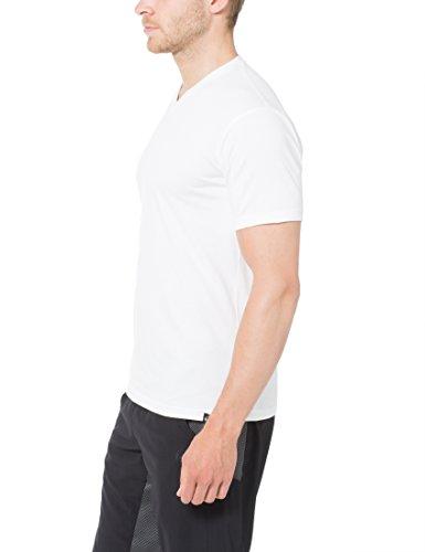 Ultrasport Herren Sport Freizeit T-Shirt mit V-Ausschnitt 5er Set Weiß