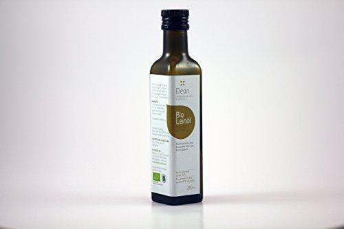 Leinöl Bio Kaltgepresst ELEON | Leinoel Bio Zertifiziert | 100% reines Natives Bio Leinöl Kaltgepresst | Leinsamenöl mit wertvollen Omega 3 Vegan Bio
