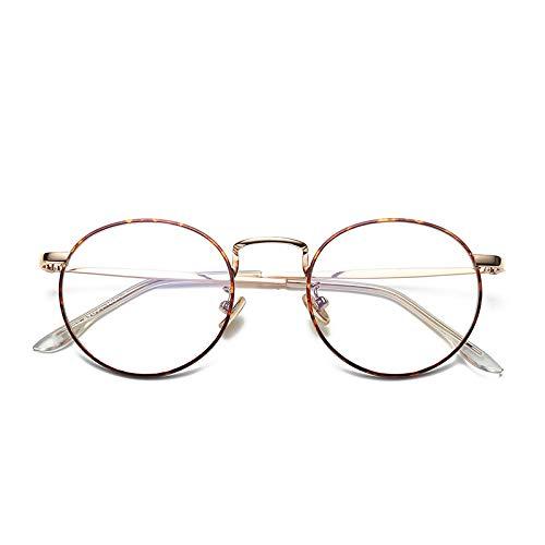 YMTP Weiblicher Rahmen-Brillen-Rahmen-Runder Schutzbrillen-Transparenter Glas-Metallglas-Rahmen Für Frauen-Männer, Mit Blumen