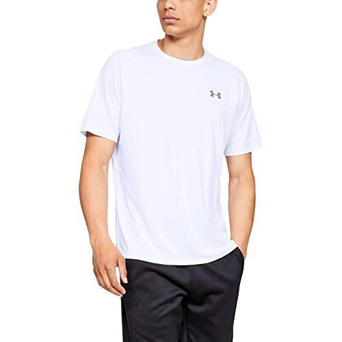 Under Armour Herren UA Tech 2.0 SS Tee' Kurzarmshirt, weiß (White  (100), L