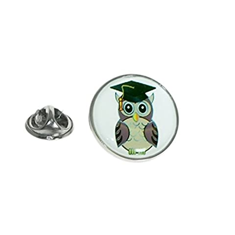 Graduation / Teacher Owl in Mortar Board Lapel Pin Badge XOMTP132