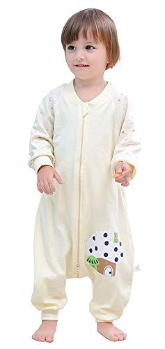 Emmala Baby Schlafsack Mit Füßen Und Casual Chic Langarm Unisex Unwattiert Schlafanzug Baumwolle Sommer Frühling Kinderschlafsack Blau 100 Koerpergroesse 100 110Cm
