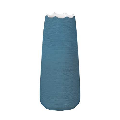 Hetoco 20cm blu fiori vaso decorativo di design moderno collection per ricorrenze decorazioni per interni ristorante bar cafe porcellana