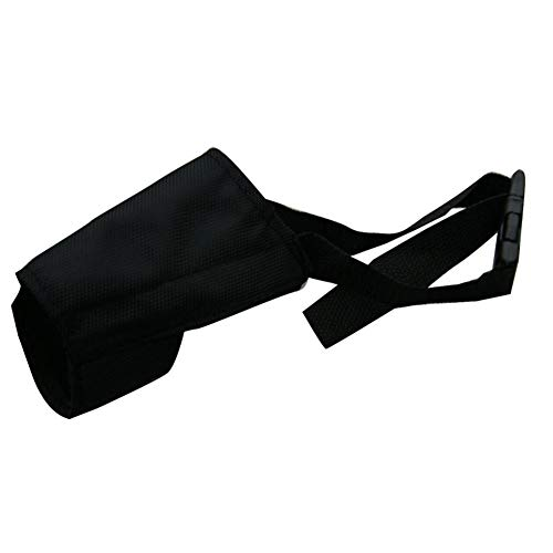 Livecitys Maulkorb, Bellschutz aus Nylon, für mittelgroße und extra Hunde, verstellbar, atmungsaktiv, weich, Nylon, Schwarz, Größe 3 -