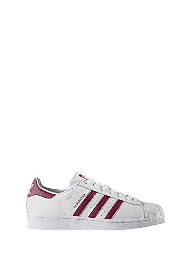 adidas Unisex-Erwachsene Superstar Low-Top, Weiß (Ftwbla / Rubmis / Ftwbla 000), 42 EU (Adidas-basketball-frau-schuhe)