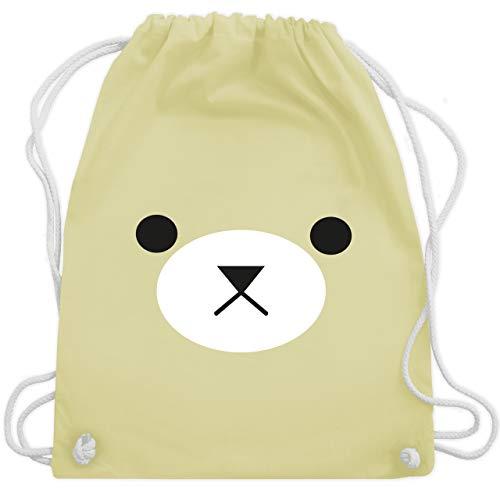 Karneval & Fasching - Teddy Gesicht Fasching - Unisize - Pastell Gelb - WM110 - Turnbeutel & Gym Bag