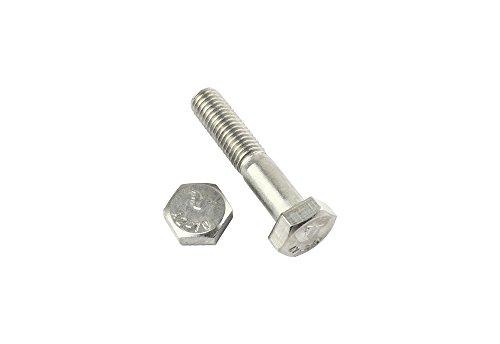 10 Stk Sechskantschraube mit Schaft DIN 931 10.9 M8 x 130