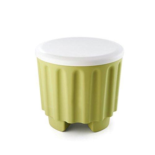 WANGFANG Aufbewahrungsbox Artefakt Hocker, Aufbewahrungshocker Kunststoff Box Sofa Schlafsaal Speicher Bett Ende Hocker/Home Kreative Schuhe Bank (Color : Green) -