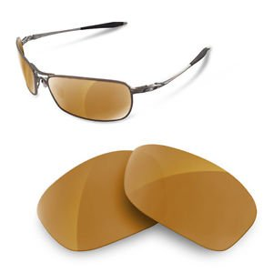 sunglasses restorer Kompatibel Ersatzgläser für Oakley Crosshair 2.0 (Polarisierte Gold Iridium Gläser)