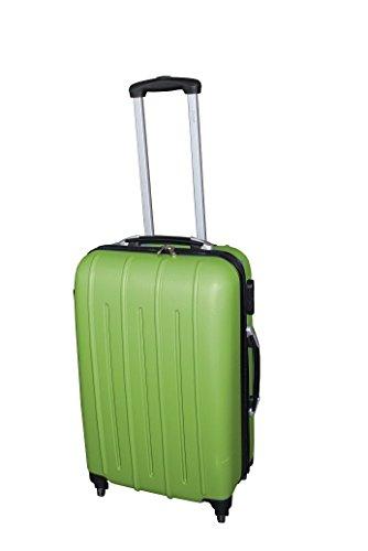 Pure - Hartschalen-Koffer Colorful | Kleiner Trolley mit 4 Rollen und Zahlenschloss in Größe S | Reisekoffer in Handgepäck-Größe | 36 Liter | Grün