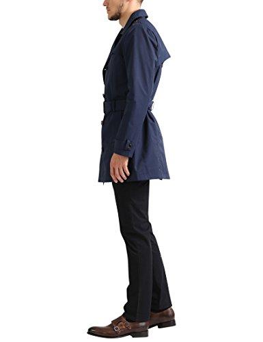 James Tyler Trench avec ceinture pour homme Bleu Marine