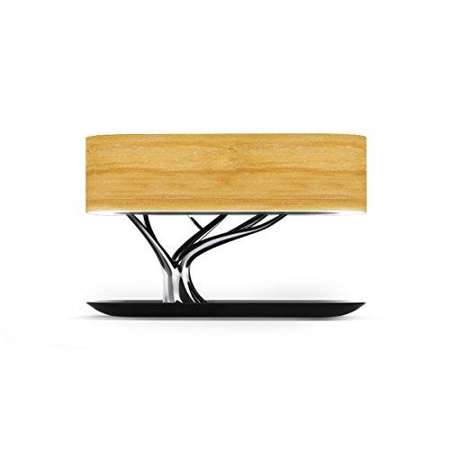 Plug-in Swing Arm Lampe (KANGLE Nachttisch-Lampe Mit Bluetooth-Lautsprecher Und Drahtlosem Ladegerät, Schlaf-Modus Stufenlose Dimming Tree Light Drahtlose Ladetisch-Lampe Smart Music Touch WiFi Bluetooth Lautsprecher,Light)