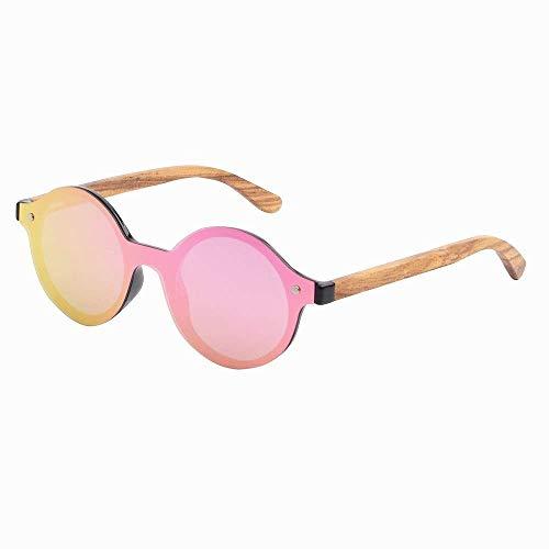 MXHSX UV400 polarisierende handgemachte Sonnenbrille, natürliche Brillen, die Blendung blockieren,Rosa