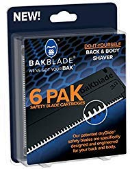 BAKBLADE 2.0 Ersatzklingen 6er-Set Passend zum Rücken- und Körperrasierer BAKBLADE 2.0