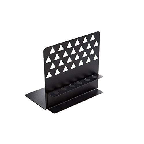 Handwerk Dvd-rack (Kreative Buchstütze Langlebig hohl dreieck eisen handwerk buchstütze mit stifthalter desktop buch lagerung rack Rutschfest)