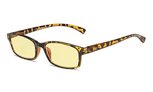 Eyekepper Blue Light blockiert Computerbrillen-Gelb getönte Brillen (Schildkröte, 0.00)