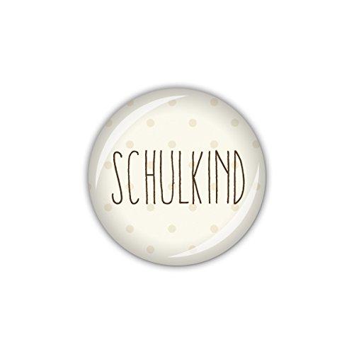 lijelove® Button 25mm Ø FOXY DOTS Schulkind (Art. 04-01U1) -