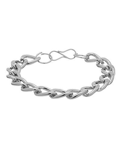 Voylla Fashionable Silver Toned Bracelet With A Bold Look  available at amazon for Rs.113