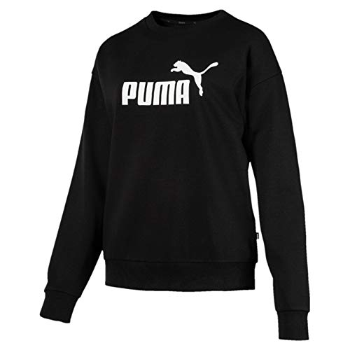 PUMA Essentials Crew Neck F, Felpa Donna, Nero (Cotone Black), S
