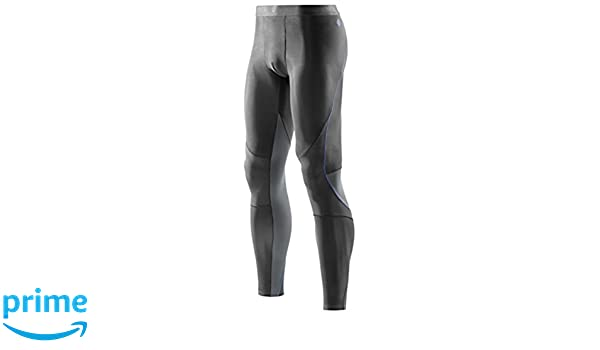 313c6b0169b16 Skins RY400 Mens Long Tights, Graphite/Blue, Medium/Large: Amazon.co.uk:  Sports & Outdoors