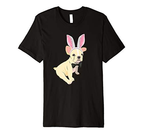 Frenchie im Osterhasen Ei Kostüm T-Shirt ()