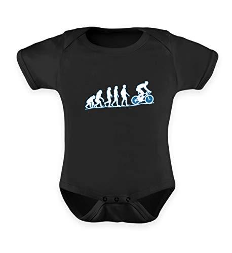 EBENBLATT Cyclist Evolution Fahrrad Kostüm Biker Radler Mountainbike MTB e-Bike Kleidung Geschenk - Baby Body -12-18 Monate-Schwarz (Biker Baby Mädchen Kostüm)