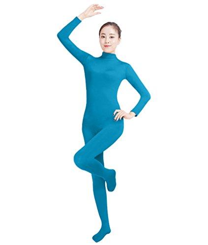 NiSeng Erwachsener und Kind Ganzkörperanzug Anzug Kostüm Ganzkörperanzug Halloween Kostüme Blau M (Skin-suit Halloween-kostüme)