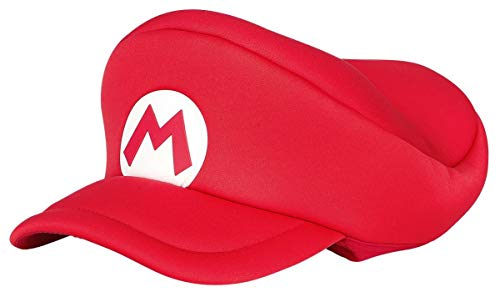 Bioworld EU Unisex Nintendo Super Bros. Kids Mario Logo Curved Hat, Red (HAY100506NTN) Schirmmütze, One Size (Mario Hats Bros Super)