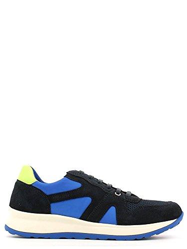 STONEFLY 106835 ice scarpe uomo sneackers lacci camoscio pelle forata Navy
