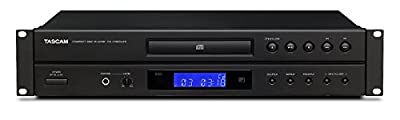 Tascam CD-P1260MKII CD Player with MP3/WMA Playback, Black