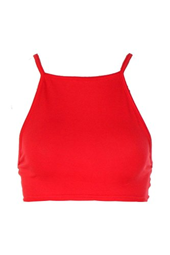 rouge Femmes Stany Basic dégagée devant et dans le dos très court Rouge