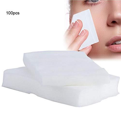 -pads 100 STÜCKE Make-Up Wattepads Einweg Kosmetik Entferner Weiche Gesichtsreinigung Wischen Papier Handtücher Make-Up Entferner Tücher (Color : White, Größe : 6 * 7cm) ()
