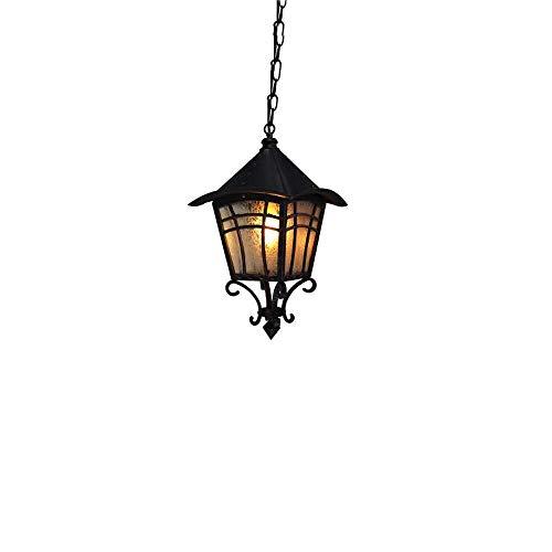 ZHAO YELONG Retro Outdoor Kronleuchter Garten Deckenleuchte Street Antik Rot Rost Farbe Wasserdicht Trauben 1-Licht Übergang E27 Anhänger Hängelaterne Lichter -