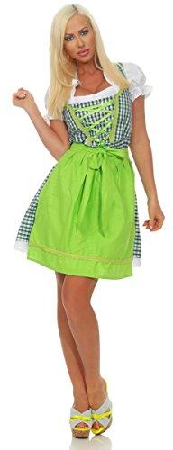OSAB-Fashion 310591 Damen Dirndl 3 TLG.Trachtenkleid Kleid Bluse Schürze Oktoberfest Tracht