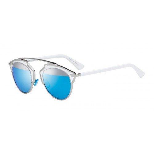 Dior Christian Damen Sonnenbrille Grau Metallo/Bianco