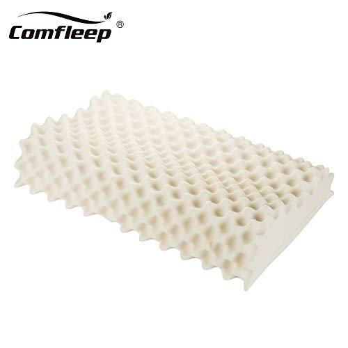 Comfleep Latex-Kissen, natürliches Latex-Kissen, atmungsaktiv, ergonomische Konturenkissen, Schlaf-Necke/Schulter, Schmerzlinderung King King -