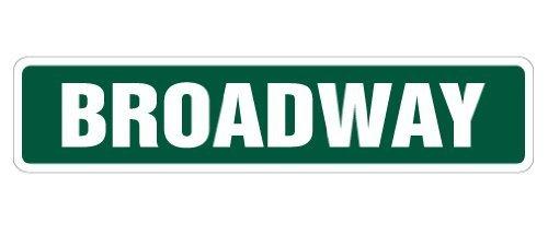 Funny Deko Schilder Broadway Street Sign NEW YORK NYC New Show Geschenk Neuheit Street Sign Road Metall Aluminium Zeichen für Garagen, Wohnzimmer