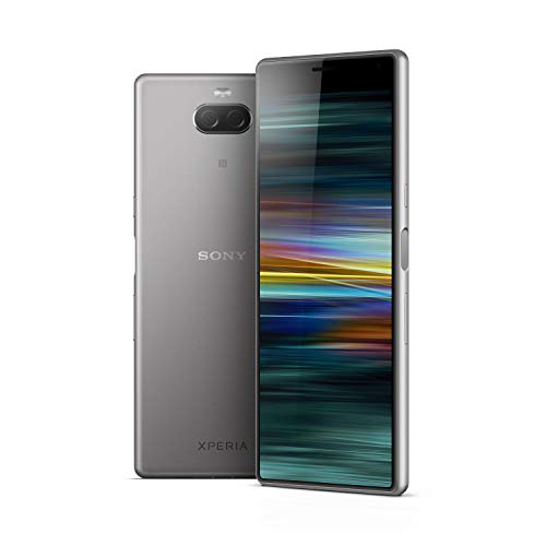 Sony Xperia 10 - Smartphone con display 21:9, 6'' full HD+ Dual Camera 13MP e 5MP, Argento