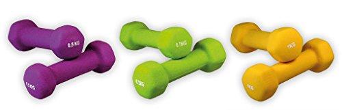 Gymnastik Hanteln | Neoprene | SET | 2 x 0,50 kg | 2 x 0,75 kg | 2 x 1,00 kg